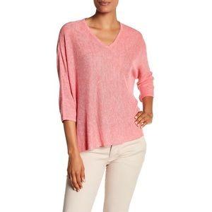Eileen Fisher Pink Boxy Knit Linen Shirt {A50}